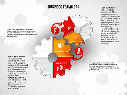 Business Teamwork Process, Slide 6, 01677, Process Diagrams — PoweredTemplate.com