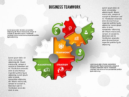 Business Teamwork Process, Slide 7, 01677, Process Diagrams — PoweredTemplate.com