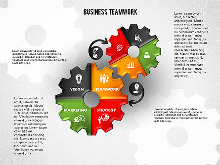 Business Teamwork Process, Slide 8, 01677, Process Diagrams — PoweredTemplate.com