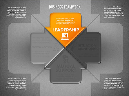 Business Teamwork Process, Slide 9, 01677, Process Diagrams — PoweredTemplate.com
