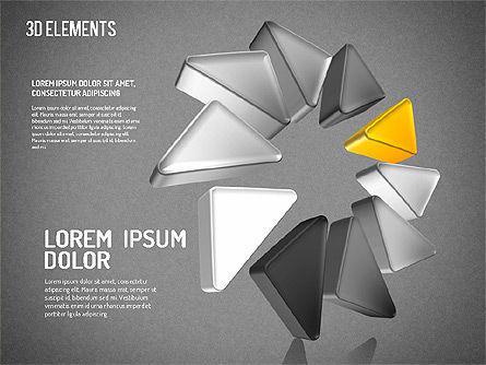 Colorful 3D Directions Shapes, Slide 15, 01678, Shapes — PoweredTemplate.com