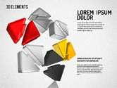 Colorful 3D Directions Shapes#4