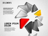 Colorful 3D Directions Shapes#7