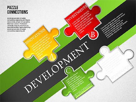 High-Tech Puzzle Diagram, Slide 3, 01682, Puzzle Diagrams — PoweredTemplate.com