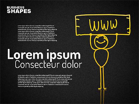 Internet Communication Character, Slide 15, 01684, Shapes — PoweredTemplate.com