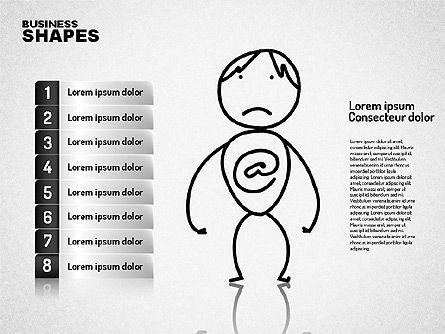 Internet Communication Character, Slide 6, 01684, Shapes — PoweredTemplate.com