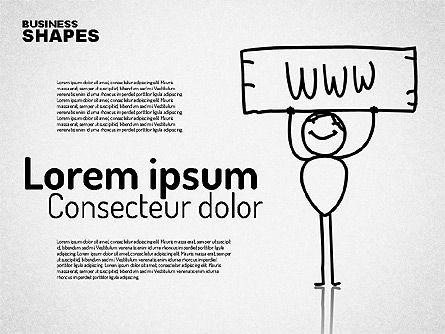 Internet Communication Character, Slide 7, 01684, Shapes — PoweredTemplate.com