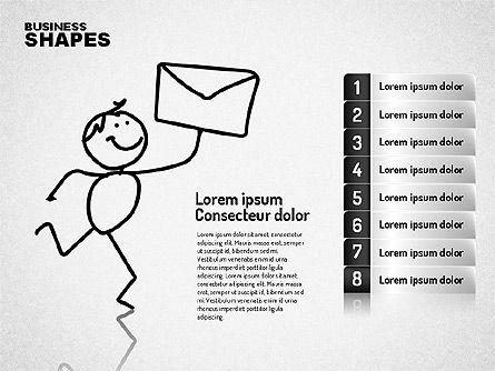 Internet Communication Character, Slide 8, 01684, Shapes — PoweredTemplate.com