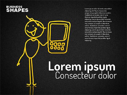 Internet Communication Character, Slide 9, 01684, Shapes — PoweredTemplate.com