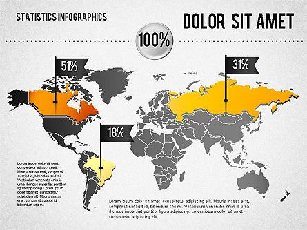 Road Statistics Infographics, Slide 4, 01689, Business Models — PoweredTemplate.com