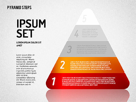 Colorful 2D Pyramid, Slide 2, 01692, Stage Diagrams — PoweredTemplate.com