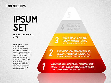 Colorful 2D Pyramid, Slide 3, 01692, Stage Diagrams — PoweredTemplate.com