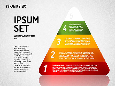 Colorful 2D Pyramid, Slide 4, 01692, Stage Diagrams — PoweredTemplate.com