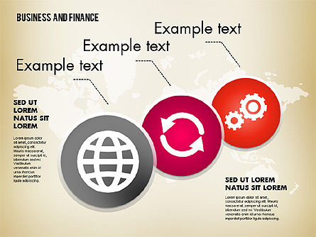 Business and Finance Process with Icons, Slide 3, 01694, Process Diagrams — PoweredTemplate.com