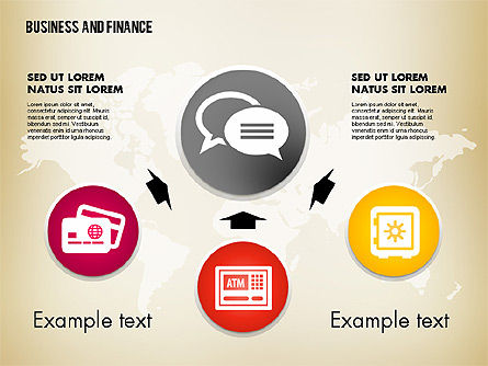 Business and Finance Process with Icons, Slide 4, 01694, Process Diagrams — PoweredTemplate.com