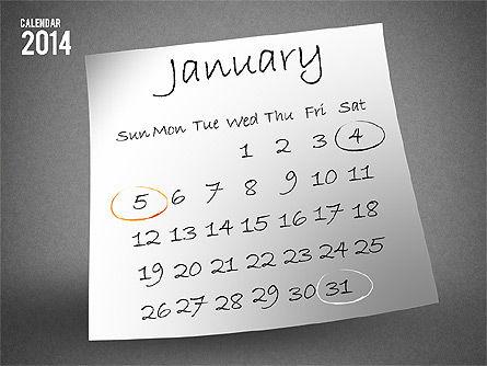2014 Calendar, Slide 2, 01695, Timelines & Calendars — PoweredTemplate.com