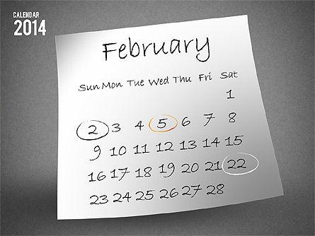2014 Calendar, Slide 3, 01695, Timelines & Calendars — PoweredTemplate.com