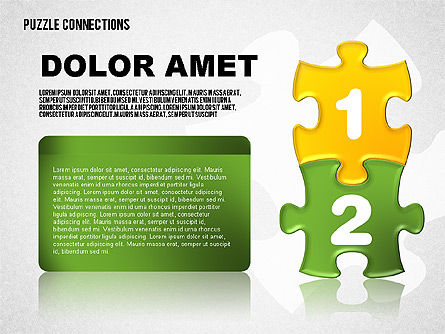 Puzzle Pieces with Numbers, Slide 2, 01696, Puzzle Diagrams — PoweredTemplate.com