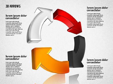 Three Dimensional Arrows Shapes Slide 2
