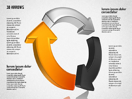 Three Dimensional Arrows Shapes Slide 3