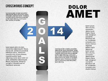 Crossword Concept, 01701, Business Models — PoweredTemplate.com