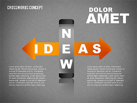 Crossword Concept, Slide 10, 01701, Business Models — PoweredTemplate.com
