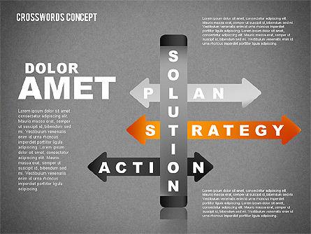Crossword Concept, Slide 12, 01701, Business Models — PoweredTemplate.com