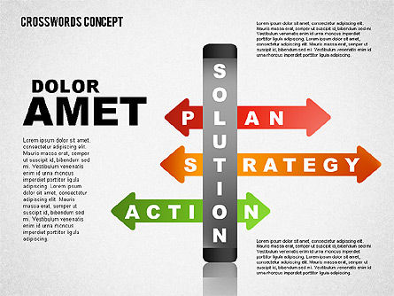 Crossword Concept, Slide 4, 01701, Business Models — PoweredTemplate.com