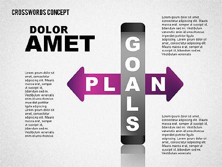 Crossword Concept, Slide 8, 01701, Business Models — PoweredTemplate.com