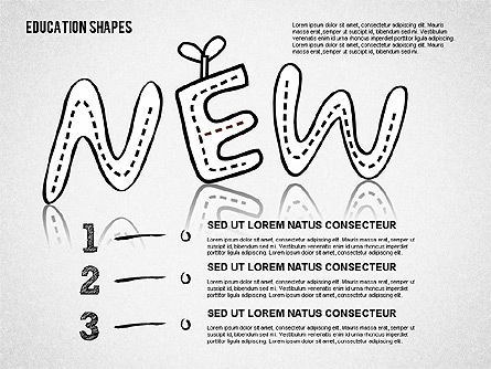 Hand Drawn Style Education Shapes, Slide 4, 01702, Education Charts and Diagrams — PoweredTemplate.com