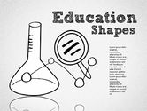 Education Charts and Diagrams: Hand Drawn Style Education Shapes #01702
