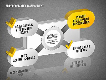 3D Performance Management Diagrams with Checks, Slide 10, 01705, Business Models — PoweredTemplate.com