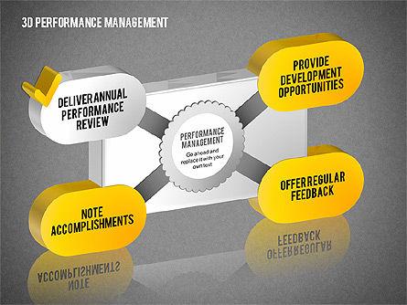 3D Performance Management Diagrams with Checks, Slide 12, 01705, Business Models — PoweredTemplate.com
