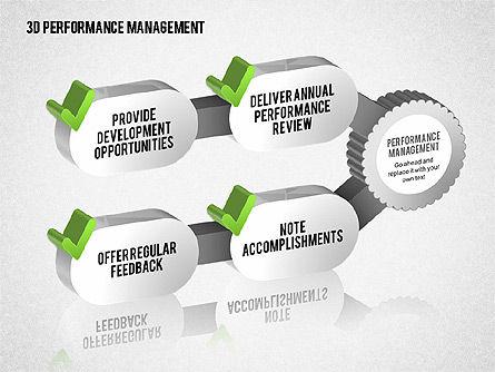 3D Performance Management Diagrams with Checks, Slide 6, 01705, Business Models — PoweredTemplate.com