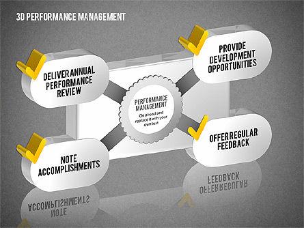 3D Performance Management Diagrams with Checks, Slide 9, 01705, Business Models — PoweredTemplate.com