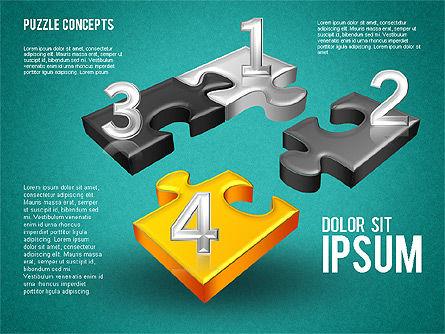 Four Puzzle Pieces, Slide 11, 01707, Puzzle Diagrams — PoweredTemplate.com