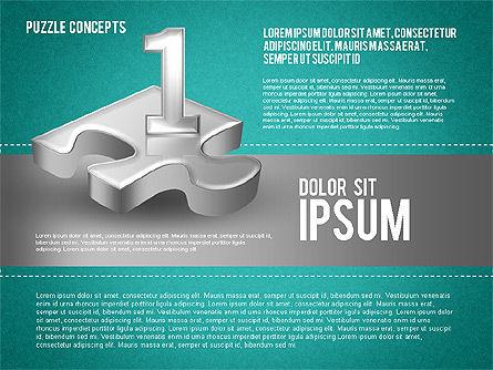 Four Puzzle Pieces, Slide 13, 01707, Puzzle Diagrams — PoweredTemplate.com
