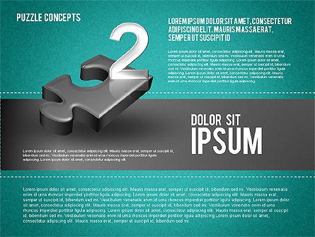 Four Puzzle Pieces, Slide 14, 01707, Puzzle Diagrams — PoweredTemplate.com