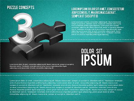 Four Puzzle Pieces, Slide 15, 01707, Puzzle Diagrams — PoweredTemplate.com