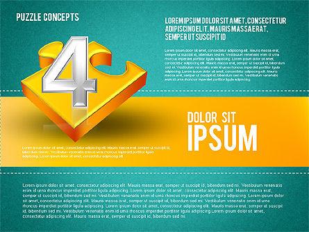 Four Puzzle Pieces, Slide 16, 01707, Puzzle Diagrams — PoweredTemplate.com