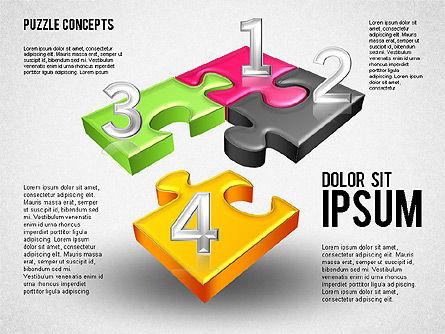 Four Puzzle Pieces, Slide 2, 01707, Puzzle Diagrams — PoweredTemplate.com