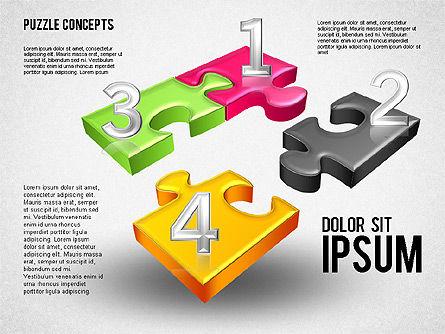 Four Puzzle Pieces, Slide 3, 01707, Puzzle Diagrams — PoweredTemplate.com