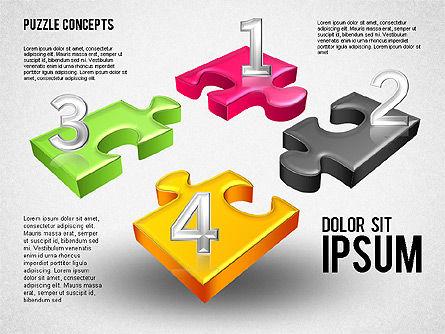 Four Puzzle Pieces, Slide 4, 01707, Puzzle Diagrams — PoweredTemplate.com