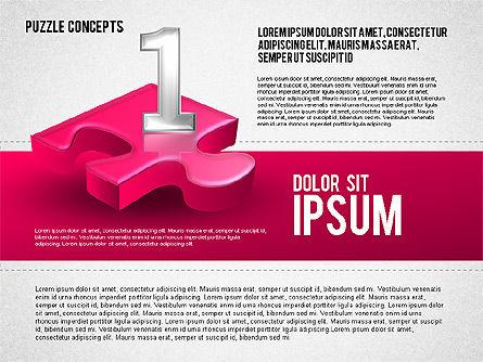 Four Puzzle Pieces, Slide 5, 01707, Puzzle Diagrams — PoweredTemplate.com