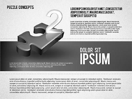 Four Puzzle Pieces, Slide 6, 01707, Puzzle Diagrams — PoweredTemplate.com
