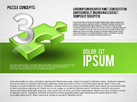 Four Puzzle Pieces, Slide 7, 01707, Puzzle Diagrams — PoweredTemplate.com