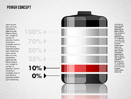 Battery Charge Concept, Slide 2, 01708, Stage Diagrams — PoweredTemplate.com