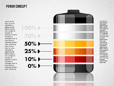 Battery Charge Concept, Slide 4, 01708, Stage Diagrams — PoweredTemplate.com
