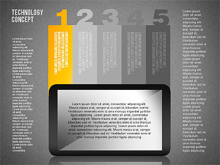 Touchpad Diagram, Slide 16, 01710, Stage Diagrams — PoweredTemplate.com