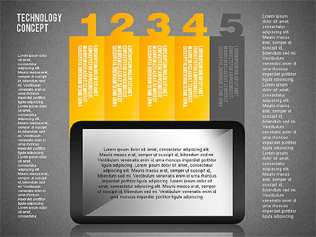 Touchpad Diagram, Slide 19, 01710, Stage Diagrams — PoweredTemplate.com